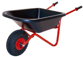 0216 Dino Wheelbarrow in red and black